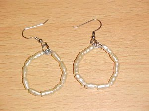 Pearlized Rice Bead Paper Clip Earrings by Island Junkee