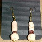 Exotic Cream Bone Dangle Earrings