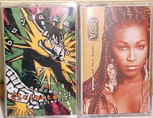 2 Dancehall Reggae Cassettes-Buyaka Ultimate Collection/Patra Queen of the Pack