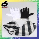 Magic Magician Black and White Gloves and Scarf Stage