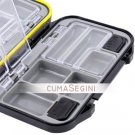 Fishing Hooks Tackle Box Case (Black) New NR Fish Box