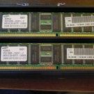 LOT OF 2 Samsung M312L3310ETS-CB0Q0 256MB DDR PC2100