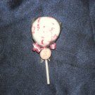 Washcloth Lollipop - It's A Girl! Pink/White