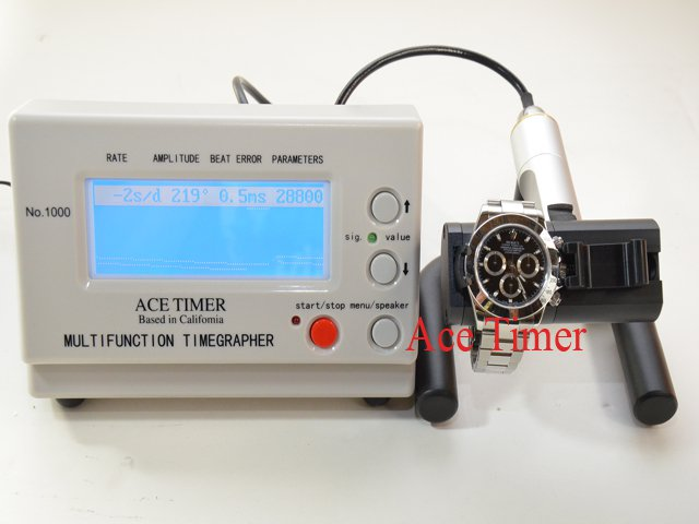 Watch and Pocket Watch Timing Machine Multi-function Timegrapher 1000