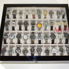 40 Watch (premium Series) 1 Level Black Lacquer Display Storage Case Box + Gift