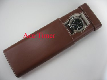 1 Watch Brown Traveling & Storage Case Box Fits up to 60mm