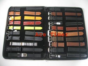 20 straps or Bands Black Leatherette Folder Fit Panerai