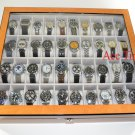 40 Watch (Premium Series) 1 Level Bird's Eyes Maple Display Case Box + Gift