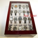 20 Watch (Premium Series) 1 Level Rosewood Display & Storage Case Box + Gift