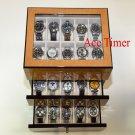30 Watch (Premium Series) Bird's Eye Maple Display Storage Case +Polishing Cloth
