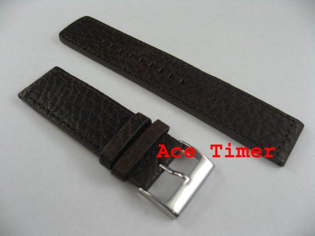 22mm Brown MegaStrap Vintage Pilot Watch Strap Band