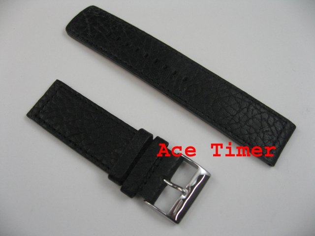 24mm Black MegaStrap Vintage Pilot Watch Strap Band