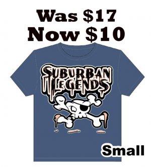 Skull T-shirt (Dark Blue) Size: Small