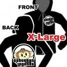 Monkey Zip Up Hoodie Size: X-Large