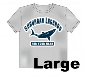 College Shark T-Shirt Size: Large