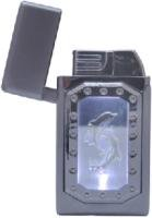 Green Flame Dolphin Lighter with Mirror flame FREE SHIPPING