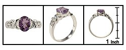Sterling Silver Amethyst Ring FREE SHIPPING