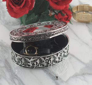 Sterlingcraft Antique Silverplated Jewelry Box  FREE SHIPPING