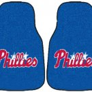 Carpet Floor Front Mats - MLB Baseball - Philadelphia Phillies - Pair