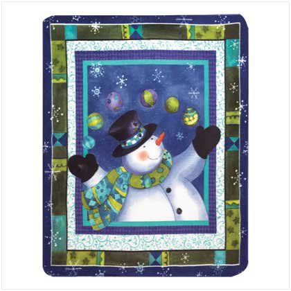 Fleece Snowman Blanket