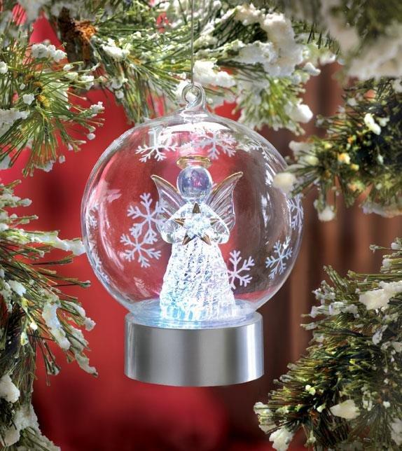 LED Angel Globe Ornament