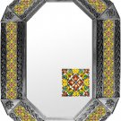 octagonal tin mirror