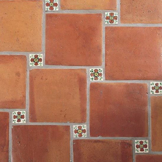 Mexican rustic floor tiles Spanish clay tile