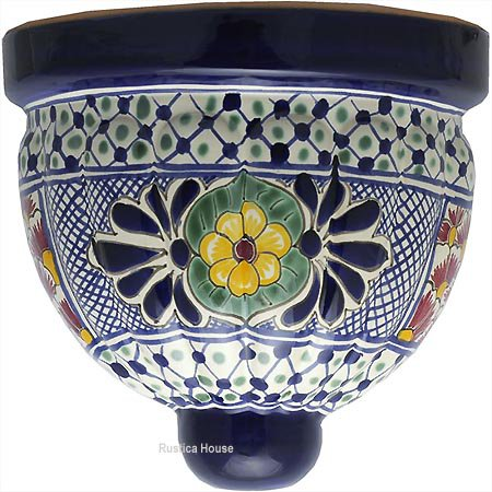Mexican Pottery Wall Sconces : mexican talavera pottery sconce