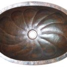 oval copper bath sink