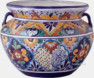 talavera flower pot