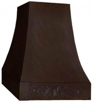 kitchen island copper range hood