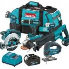 Makita LXT601 18-Volt LXT Lithium-Ion Cordless 6PC KIT