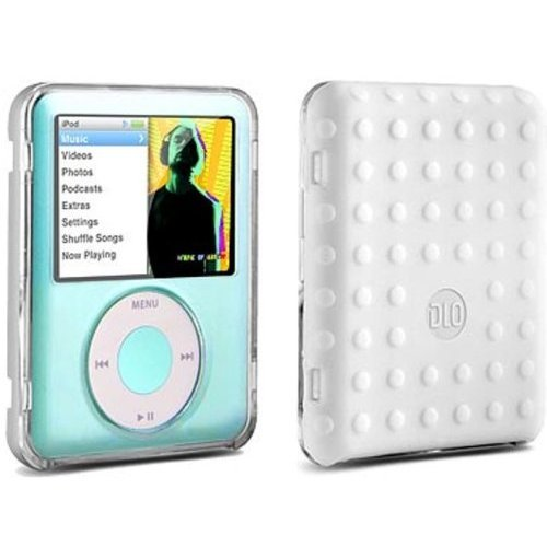 DLO HybridShell for iPod Nano 3 Brand New - White Color Back