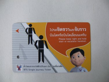 Thailand Sky Train Ticket BTS Bangkok Collection Collectible Gift New Cartoon