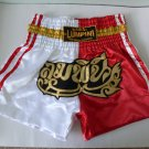 Muay Thai Kick Boxing MMA Shorts Gold Red White L Beautiful Ship Boat Style Gift