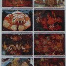 Poster Collection Thailand Thai Mural Painting Rama Hanuman Castle Ramayana Ramakian
