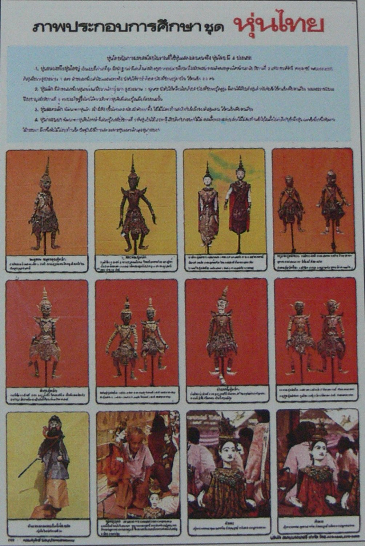 Thai Poster Thailand Original Tradition Handmade God Man Woman Monkey Puppet Marionette Figure