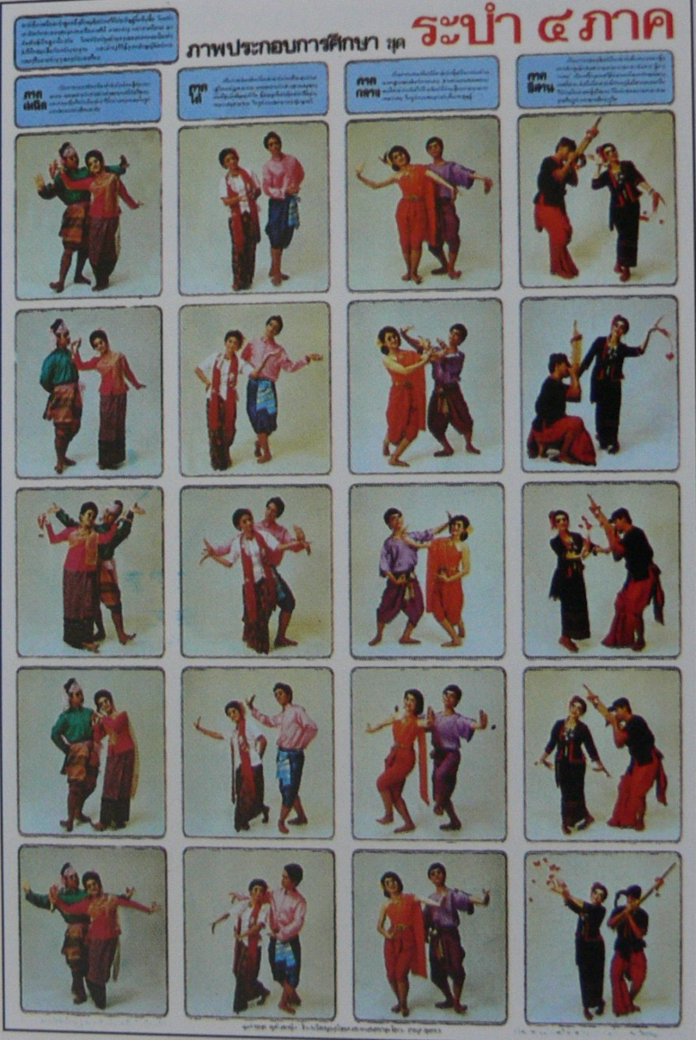 Thai Region Tradition Dancing Art Dance Poster Education Christmas New Year Gift