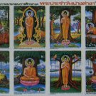 8 Buddha Daily Action Art Poster Collection Education Monk Gift Teach Meditation Angel