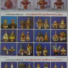 Thai Traditional 3 Poster Thailand Tray Pedestal Culture Education Collection Set
