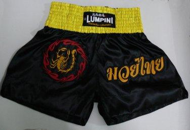 Muay Thai Kick Boxing MMA Boxen Fight Shorts Scorpion Ring of Fire Red Black XXL K-1 UFC
