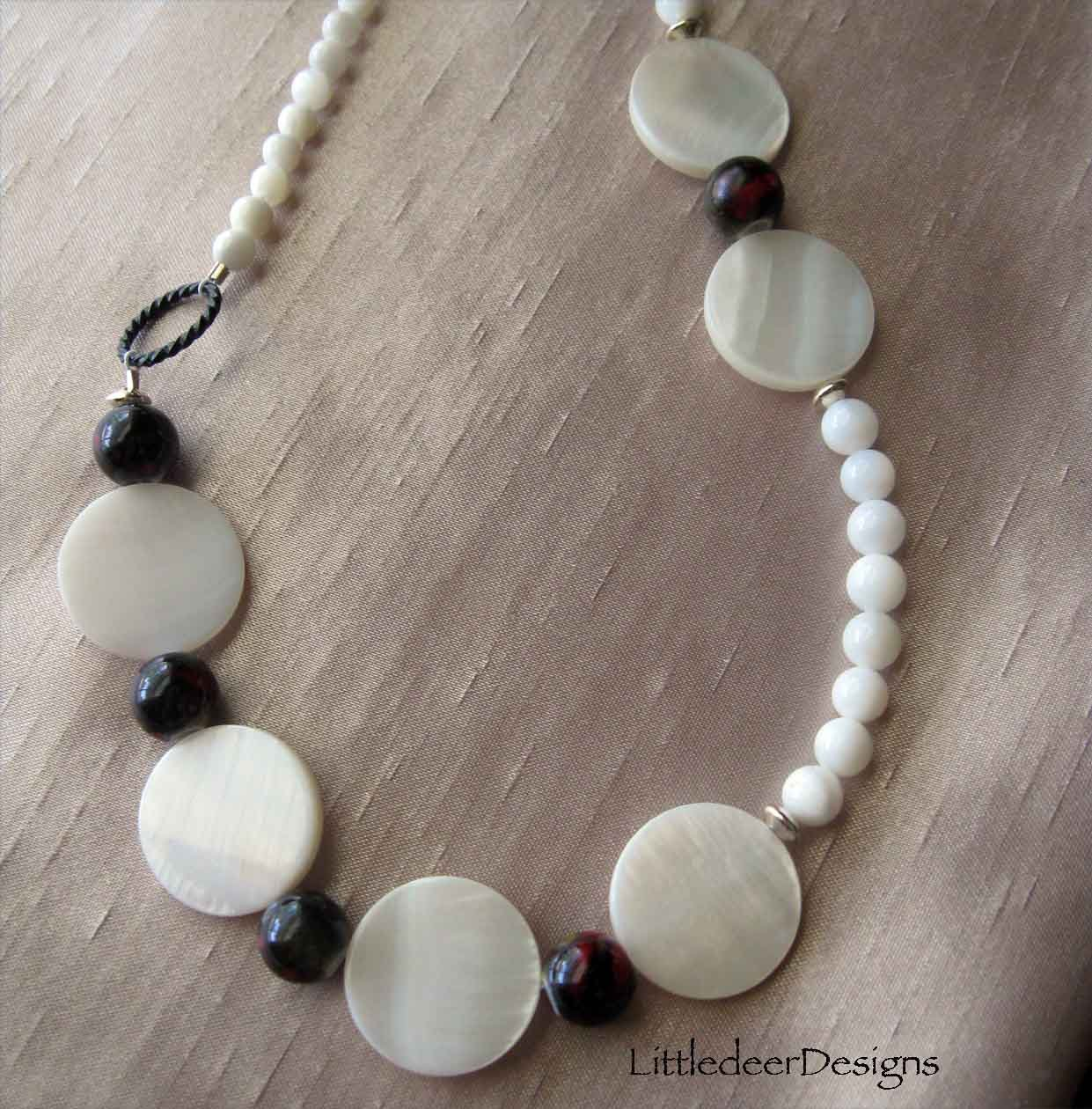 Necklace:  Riverstone with vintage button clasp