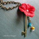 Hardware Grrl Series:  Flowering Key necklace