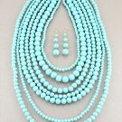 TURQUOISE URBAN ANTHROPOLOGIE GOSSIP GIRL NECKLACE