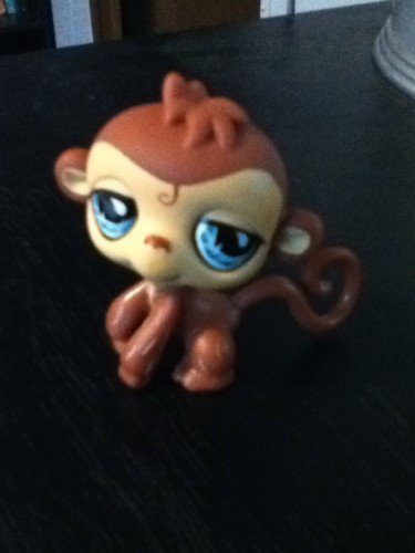 Littlest Pet Shop Brown Monkey
