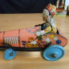 Vintage Wind Up Toys Unique Art 1920's Clown Krazy Kar Very Good Condition