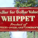 Vintage Sign Whippet Willys Overland Embossed ca.1920/30's Art Deco Style.