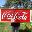 Vintage Coca Cola Sign Embossed 1932 with the Double Coke Bottles 12-25-1923