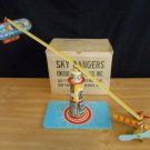 Vintage Wind Up Toy Unique Art 1940's Sky Rangers with Box in Excellent Cond.