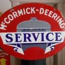 Vintage Sign McCormick-Deering Service Double Sided Porcelain Orig. Farm Oil Gas
